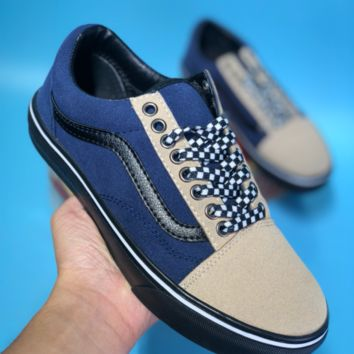 DCCK2 Vans V360G Billy Old Skool Suede Skate Shoes Dark Blue Grey