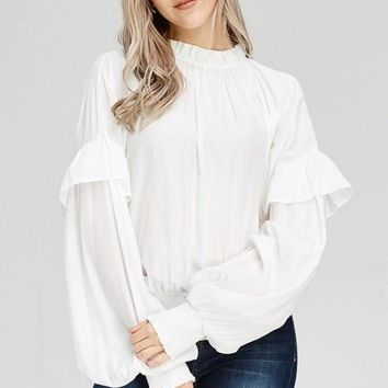 Ginnie White Bishop Blouse