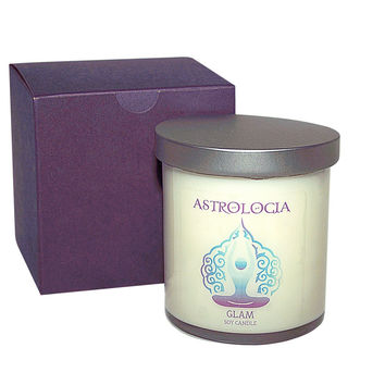 Astrologia GLAM Soy Candle 8 oz with Gift Box