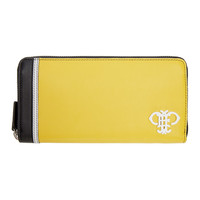 Yellow Colorblocked Continental Wallet