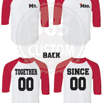 Together Since Couple Shirt (Baseball Tee) EACH 17.99