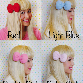 1 Hair Bow Clip - HairBow HairClip hairbows big bow huge bow for girls hair clip bow for teens bow birthday party bow for women bows pretty