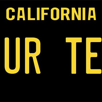 PhotoZoneGa 50 State Personalized Custom Novelty Tag Vehicle Auto Car Bike Bicycle Motorcycle Moped Key Chain License Plate (California Black)