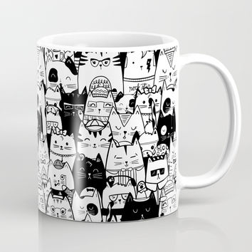 Itty Bitty Kitty Committee Coffee Mug by noondaydesign
