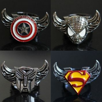 Featured Store Captain America Superman Iron Man New Rotating Ring Ring = 1946134596