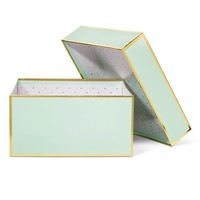 Sugar Paper Mint and Gold Gift Box - Large