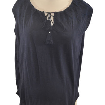 Blue Short Sleeve Top by Ann Taylor LOFT *New With Tags*