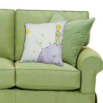 The Little Prince Pillow - Antoine de Saint-Exupery Book Gift - French Literary Throw Pillow - Gift For Her - Home Decor