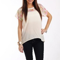 Sweetly Floral Blouse,Off White