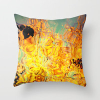 orange magic Throw Pillow by Marianna Tankelevich | Society6