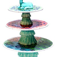 Tracy Porter For Poetic Wanderlust 'Folklore Holiday' 3-Tier Stand - Blue