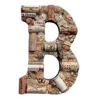 The Country Barrel — Customized Wine Cork Letter B - Large Size - We Have EVERY Letter
