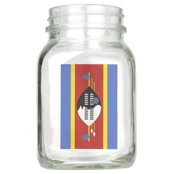 Flag of Swaziland Mason Jar