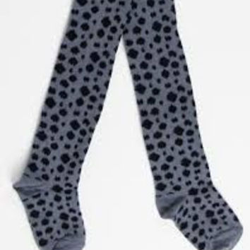 Popupshop Grey Leopard Tights