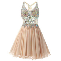 Homecoming Dresses Crystals Vestido Curto Ruched Cocktail Dress Teen Junior Prom Sweet 16 Short Dresses Vestido 15 Anos Curto