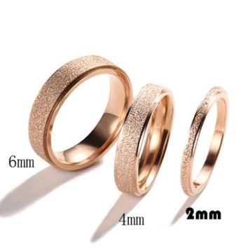 Bvlgari Frosted Rome Great Wall Ring female students couple forefinger tail ring titanium steel joint ring