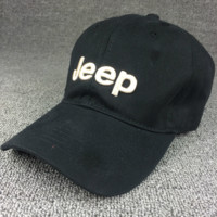 Unisex Black Color Jeep Embroidered Baseball Cap Hat