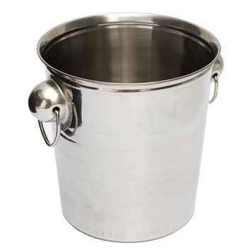 Silver Stainless Steel Ice Punch Bucket Wine Beer Cooler Champagne Cooler Party