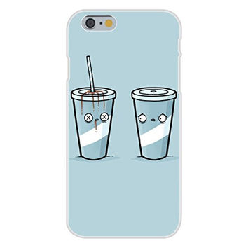Apple iPhone 6 Custom Case White Plastic Snap On - 'Drink Death' Straw Stabbing Cup