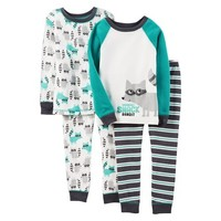 Just One You™Made by Carter's® Infant Toddler Boys' Pajama Set - Turquoise/White