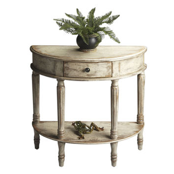 Butler Home Decor Demilune Console Table Finish Type - Heavy Chateau Gray