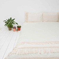 Tassel Duvet Cover in Ivory - Urban Outfitters