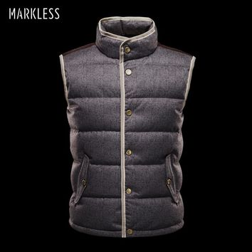 Men High end seamless Down Vest Autumn And Winter Coats Vest Down Man Clothing