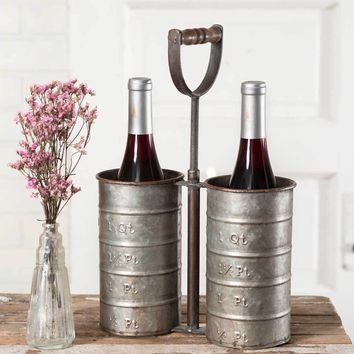 Vintage Bottle Caddy with Handle