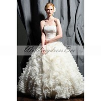 Ball gown floor-length taffeta bridal gown