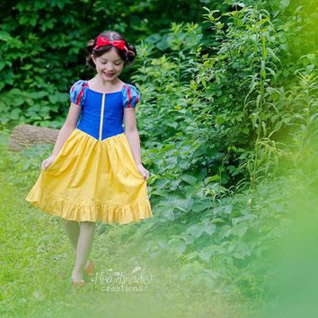 Snow White - Princess Inspired Dress - Sizes 6/12 months through 10