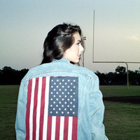VIntage 90's American Flag Denim Jacket