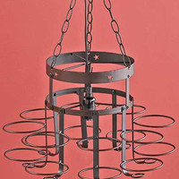 Chandelier Wrought Iron Hanging Light Country Rustic Cabin Lodge Farm Mason Jar