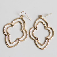 Double Cut-out Gold Earrings