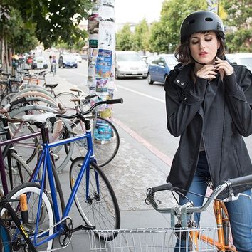 Women's Black Bike to Work Jacket | Betabrand