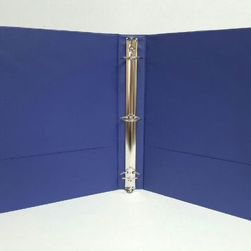 "1.5"" Basic 3-Ring Binder w- Two Inside Pockets - Blue - CASE OF 12"