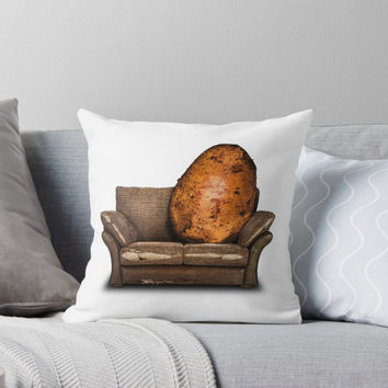 'COUCH POTATO' Throw Pillow by John Medbury (LAZY J)
