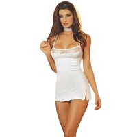 White Lace Lingerie Babydoll Dress