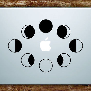 Moon Phases Laptop Decal Sticker Vinyl Art Quote Macbook Apple Decor Quote Space Stars Galaxy