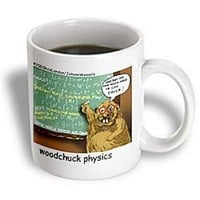 mug_1443_1 Londons Times Funny Animals Cartoons - Woodchuck Physics - Mugs - 11oz Mug