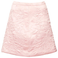 SATIN QUILT SKIRT BY BOUTIQUE