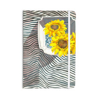"S. Seema Z ""Finall Sunflower"" Yellow Flower Everything Notebook"