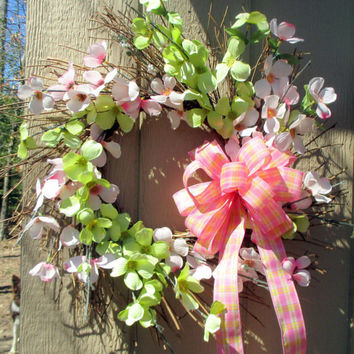 Cherry Blossom wreath-Spring wreath for the front door-Spring door hanger-Easter décor-summer wreath-Mothers Day gift-ready to ship-handmade