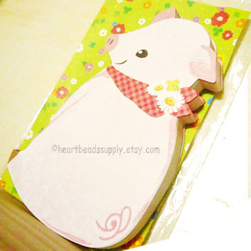 Pig, 30 sheets kawaii message cards, cute Japanese stationery, id1340378, thank you notes, reminders, memo, gift for her, back to school,