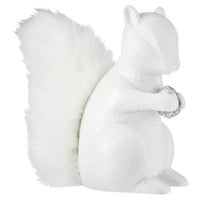 Threshold™ Squirrel Figural with Acorn and Faux Fur Tail - White Shimmer