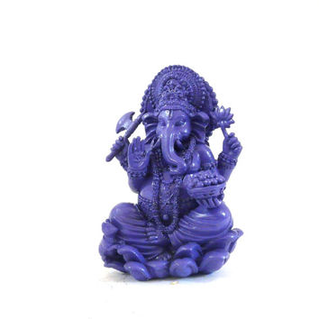 ganesh statue, hindu, elephant god, ganesha, lotus, purple, collectibles, pop art, goddess
