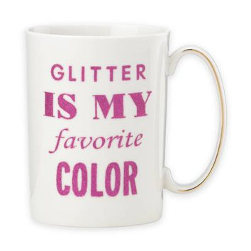 "kate spade new york Simply Sparkling ""Glitter is My Favorite Color"" Mug"