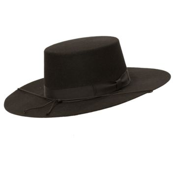 Bolero Wide Brim Flat Crown Hat
