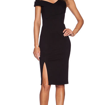 NICHOLAS One Shoulder Dress in Black