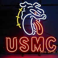 Brand New USMC Marine Corps Bulldog Real Glass Neon Sign Beer Bar Pub Light Sign 19x15!!!Best Offer!