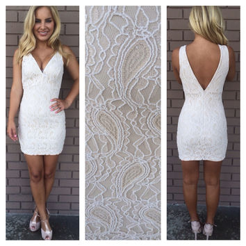 Drunk in Love Paisley Lace Dress